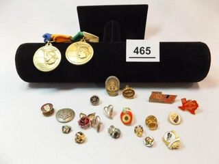 Pins  Medals  Button  20