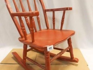 Child s Wooden Rocking Chair  Red