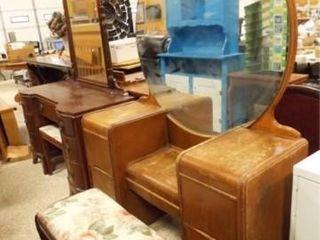 Vanity Dresser with Mirror  Seat