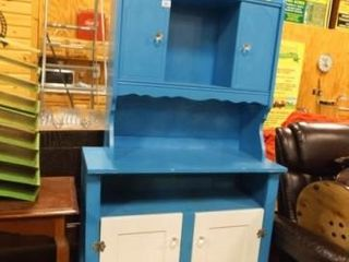 Hutch Cabinet  Painted  77  x 37  x 16