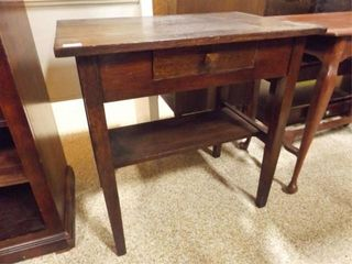 Wood Table with Drawer  20