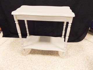 Small Table  painted Gray  24  x 21  x 11