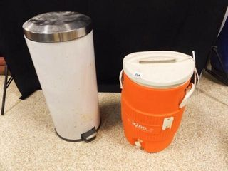 Igloo Thermos w  Spigot  Step On Trash Can