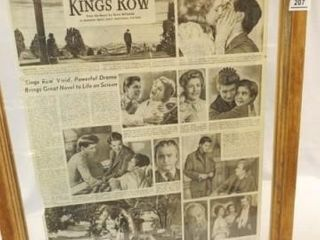 Kings Row  Movie Advertisement  Framed
