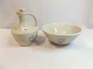 Pottery Bowl  Jug