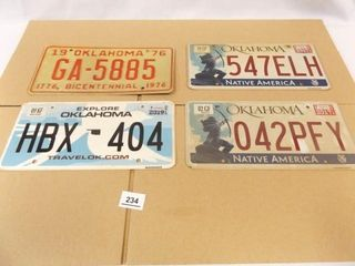 Oklahoma license Plates    76   17   17  19