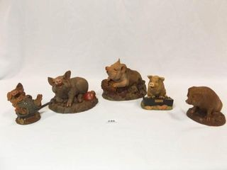 Tim Wolfe Pig Figurines  5
