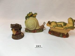 Tim Wolfe Frog Figurines  3