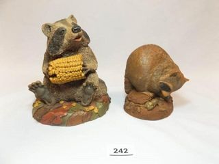 Tim Wolfe Racoon Figurines  2