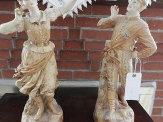 Pair of late 19th century bisque statuettes 20