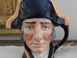 Royal Daulton ?Lord Nelson? toby mug 8? tall