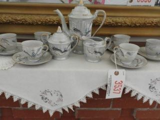 Japanese 15pc hand painted tea set with hand