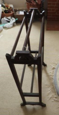 Victorian Walnut towel rack 33?