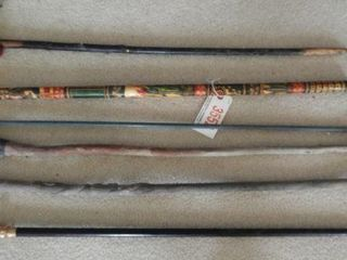 Selection (6) canes and walking sticks to