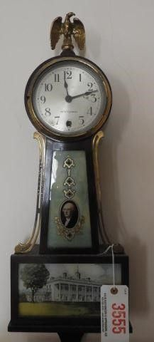Seth Thomas Banjo clock with reverse paint on