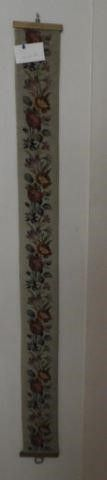 Floral needlepoint rose decorated 5ft bell pull
