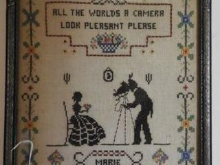 Pair of vintage needlepoint works in frames