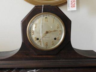 New Haven antique Mahogany camelback mantle clock