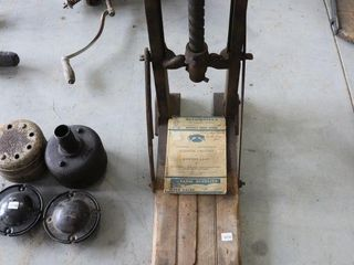 ANTIQUE BARN BEAM BORING MACHINE 28