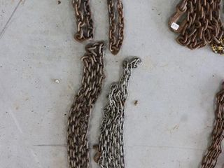4 ASSORTED CHAINS