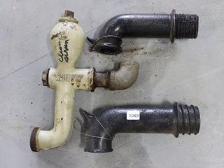 3 ASSORTED WATER PUMP SPOUTS