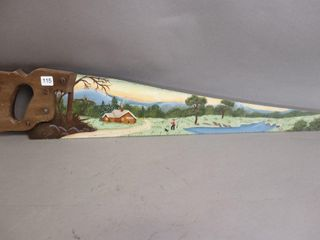 HAND PAINTED HAND SAW   29 l