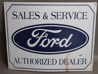 FORD SAlES SERVICE SIGN   REPRO   16 W X 12 H