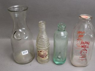 4 ASSORTED MIlK   SODA BOTTlES