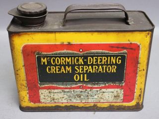 McCORMICK DEERING CREAM SEPARATOR OIl CAN