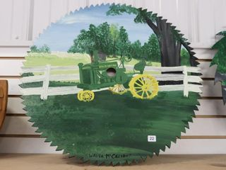 HAND PAINTED BUZZ SAW   WANDA McERAICH