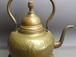 BRASS TEA KETTlE   13  HIGH