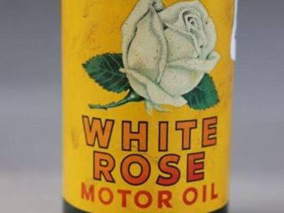 WHITE ROSE MOTOR OIl CAN   3 1 2  H