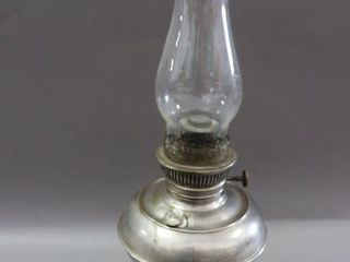 RAYO OIl lAMP WITH CHIMNEY   21 H