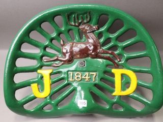 JOHN DEERE 1847 CAST IMPlEMENT SEAT   REPRODUCTION