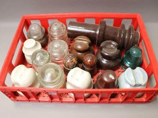BOX OF ASSORTED INSUlATORS