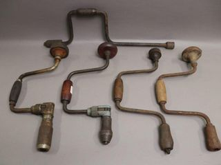 6 ANTIQUE HAND DRIllS