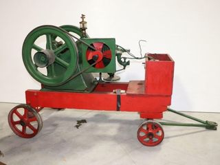lISTER 1 3 4 STATIONARY ENGINE AND CART
