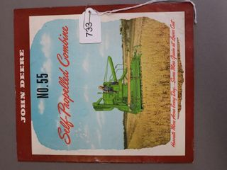 JOHN DEERE NO 55 COMBINE CATAlOGUE