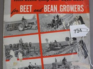 JOHN DEERE BEET AND BEAN GROWERS CATAlOGUE