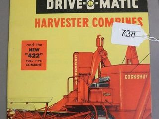 COCKSHUTT DRIVE O MATIC COMBINE CATAlOGUE