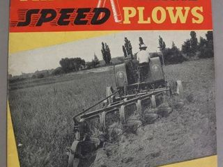 COCKSHUTT SPEED PlOWS CATAlOGUE