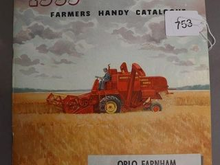 MASSEY HARRIS 1953 FARMERS CATAlOGUE
