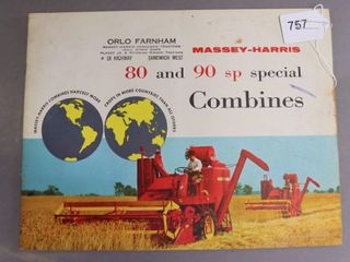 MASSEY HARRIS 80 AND 90 COMBINE CATAlOGUE
