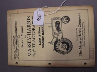 MASSEY HARRIS 81  82 SERVICE MANUAl