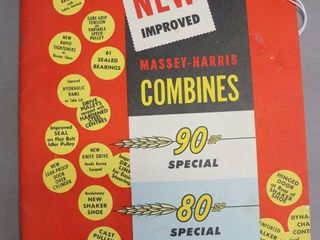MASSEY HARRIS 80 AND 90 COMBINES CATAlOGUE