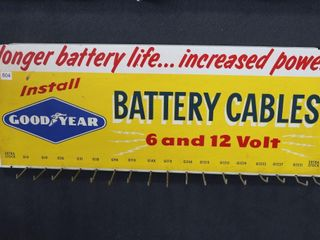 GOOD YEAR BATTERY CABlES TIN RACK 30 X 12