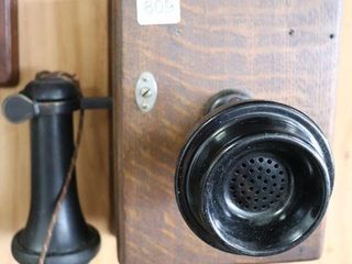 WESTERN ElECTRIC OAK WAll PHONE 7 X9
