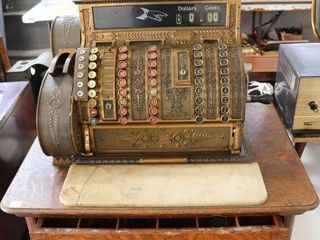 THE NATIONAl CASH REGISTER BRASS CASH REGISTER