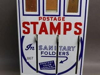 VINTAGE POSTAGE STAMP DISPENSER 8 X16