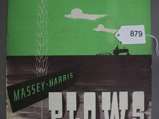 MASSEY HARRIS PlOWS CATAlOGUE
